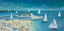 Moonlit Fun 'n' Frolics by Lucy Young -  sized 32x16 inches. Available from Whitewall Galleries